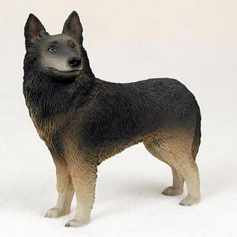 Belgian Tervuren Figurine Hand Painted Collectible Statue