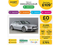 Silver AUDI A4 SALOON 1.8 2.0 TFSI Petrol SPORT S LINE FROM £109 PER WEEK!