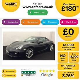 Porsche Cayman FROM £180 PER EEK!