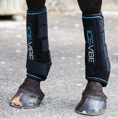 Horseware Ice-Vibe Boot LED - Black Aqua  - Aqua Leder Boot