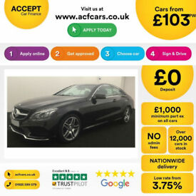 MERCEDES-BENZ E200 E220 CDI AMG LINE NIGHT PREMIUM SE Coupe FROM £103 PER WEEK!