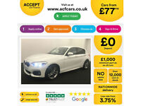 White BMW 116d M Sport 5 door 2016 Leather 78MPG FROM £77 PER WEEK!