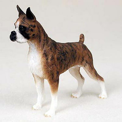 Boxer Hand Painted Dog Figurine Statue Brindle