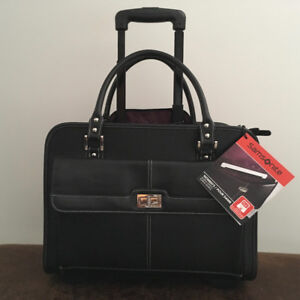 ROLLING BRIEFCASE, OFFICE TRAVEL TOTE, CARRY ON, BRAND NEW !!