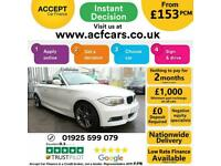 2013 WHITE BMW 120D 2.0 M SPORT DIESEL AUTO CONVERTIBLE CAR FINANCE FR £153 PCM