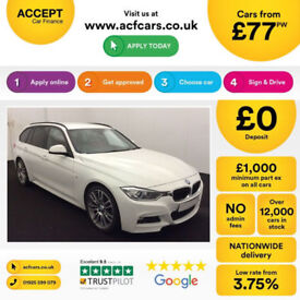 White BMW 320d sport Touring Estate 2015 Auto FROM £77 PER WEEK!
