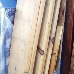 5 Pine Boards 9x1.5 inches x 87 and 97 inch Long Clean Straight