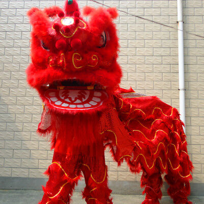 new Dance mascot Costume wool Southern red Lion Chinese Folk art For two adult