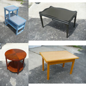 Various Tables Coffee Side End Night Used Furniture Wood Painted