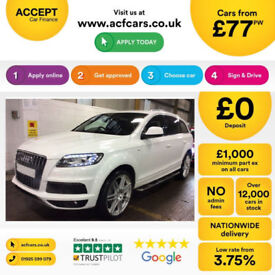Audi Q7 quattro S Line FROM £77 PER WEEK!
