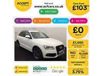 White AUDI Q5 4X4 2.0 TDI Diesel QUATTRO S LINE S-T Plus FROM £103 PER WEEK!