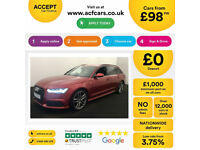 Red AUDI A6 AVANT ESTATE 2.0 3.0 TDI Diesel SPORT S LINE FROM £98 PER WEEK!