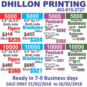 Business card printing kijiji in calgary buy sell save sign trophies t shirt flyer postcard business card more reheart Image collections