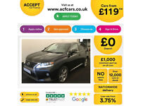 LEXUS RX 3.3 400 H EXECUTIVE LIMITED ED FROM £119 PER WEEK!