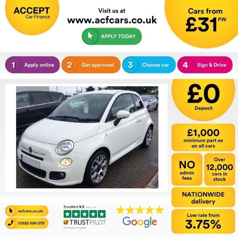 Fiat 500 S FROM £31 PER WEEK!