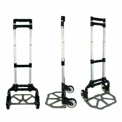 170lb Portable Luggage Cart Aluminum Folding Hand Truck Dolly Warehouse Trolley
