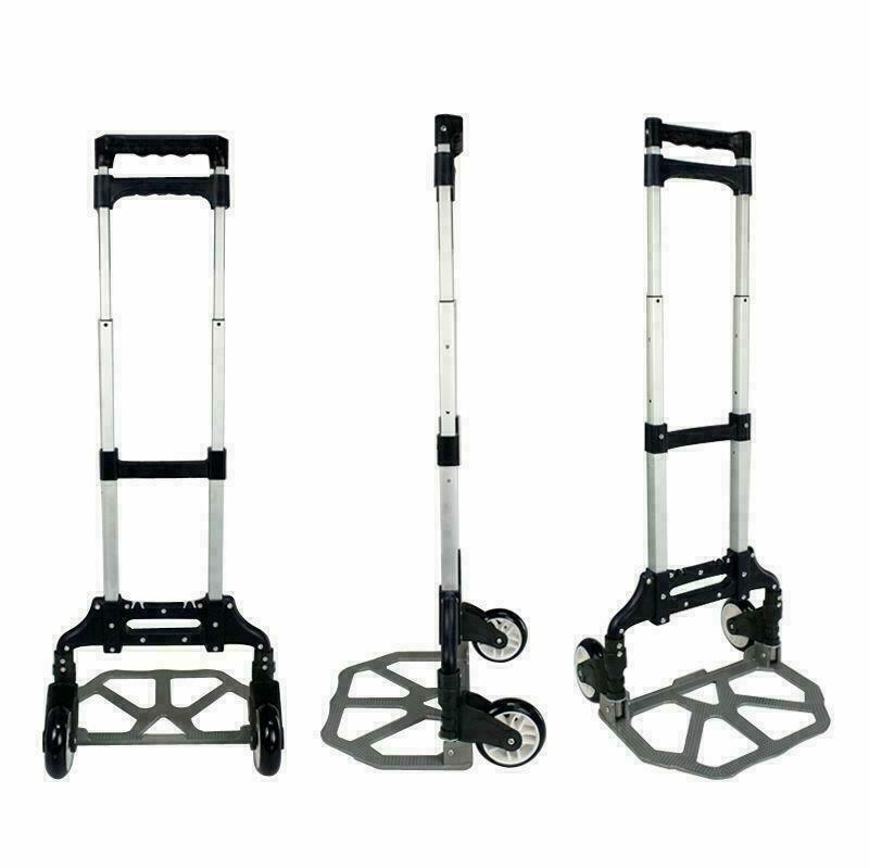 170lb portable luggage cart aluminum folding hand