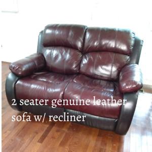 Geniune Leather Recliners