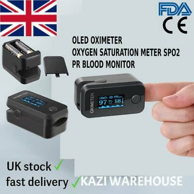 Pulse Oximeter Oled Fingertip Oxygen Saturation Meter Spo2 Pr Blood Monitor.ce