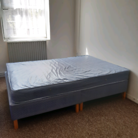 Water Resistant Standard Double Divan Bed Base & Mattress Set