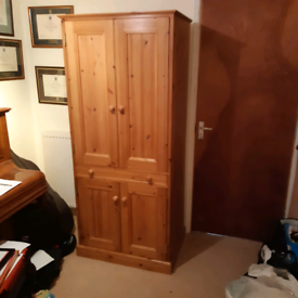 Computer cupboard and workstation