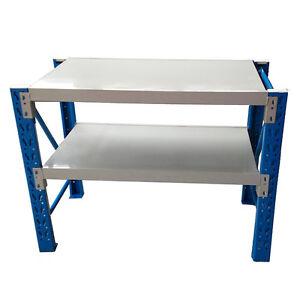1.2mx0.9m Metal Steel Garage Warehouse Rack Workbench Shelving Work Bench Shelf