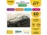 Grey AUDI TT COUPE 1.8 2.0 TDI Diesel ULTRA S LINE FROM £77 PER WEEK!
