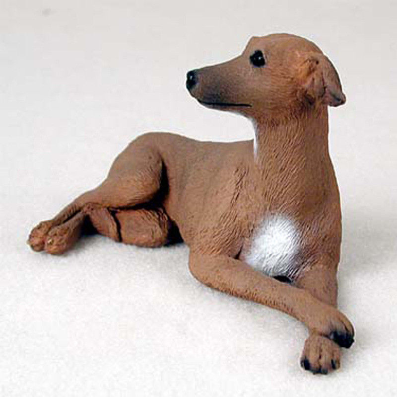 Italian Greyhound Statue Figurine Hand Painted Collectible Statue