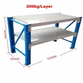 1.2mx0.9M Steel Garage Warehouse RackShelves Shelving WorkBench