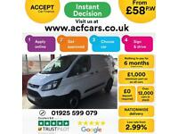 2017 WHITE FORD TRANSIT CUSTOM 2.0 TDCI 105 270 SWB VAN CAR FINANCE FR £58 PW