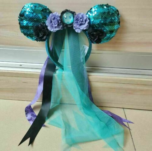 Disney Parks Veil Leota Limited Gift Minnie Ears Haunted Mansion Blue Headband