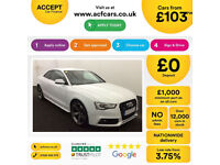 White AUDI A5 Coupe 3.0 TDI Diesel BLACK EDITION FROM £103 PER WEEK!