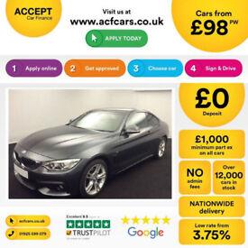 BMW 430 M Sport FROM £98 PER WEEK!