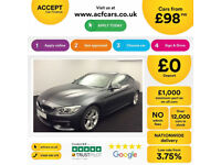 Grey BMW 430d M Sport Coupe Auto 258 BHP 2014 FROM £98 PER WEEK!