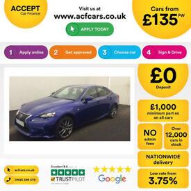 Lexus IS F SPORT FROM £135 PER WEEK!