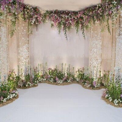 Flowers Wall Scene Wedding Backdrop 8x8ft Background Photography Studio Props