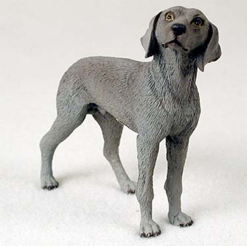 Weimaraner Figurine Hand Painted Collectible Statue