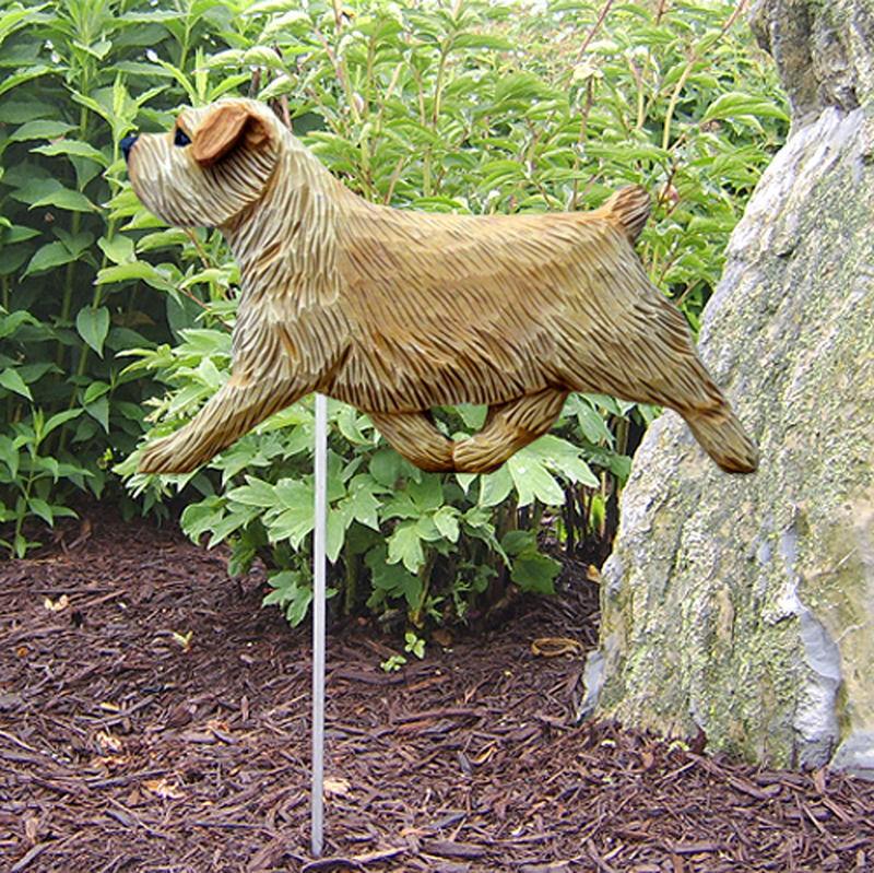 Norfolk Terrier Outdoor Garden Dog Sign Hand Painted Figure Wheaten