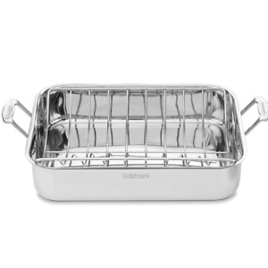 "Cuisinart Chef's Classic Stainless Steel 16"" Roaster with Rack"