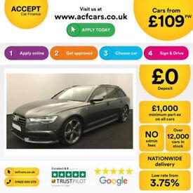 Grey AUDI A6 AVANT ESTATE 2.0 TDI DieselS LINE BLACK EDITION FROM £103 PER WEEK