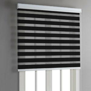 "Blinds - Day and Night Roller Blind - 36""x84"" - Black"