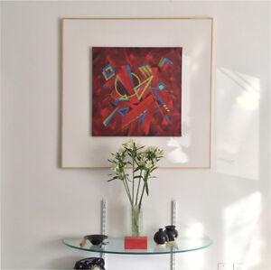 abstract painting/ tableau abstrait peinture acrylique sur toile