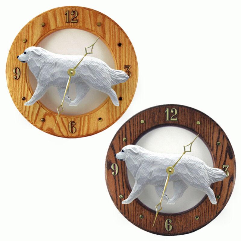 Great Pyrenees Wood Clock
