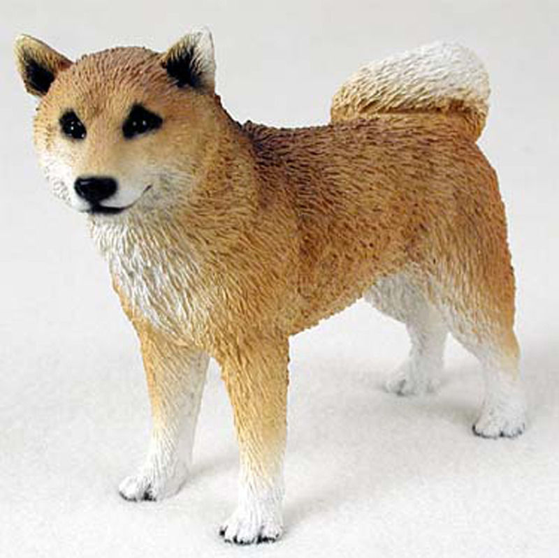 Shiba Inu Figurine Hand Painted Collectible Statue