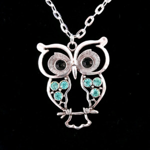 NEW Silver Owl Necklace