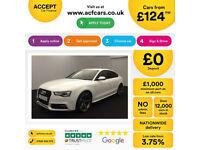 White AUDI S5 HATCHBACK 3.0 T FSI Petrol QUATTRO FROM £124 PER WEEK!
