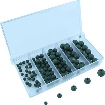 Stopperperlen Angeln Perlen Gummiperlen Rubber Beads 100 Gummikugeln Sortiment