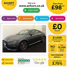 Grey AUDI TT COUPE 1.8 2.0 TFSI Petrol S LINE FROM £98 PER WEEK!