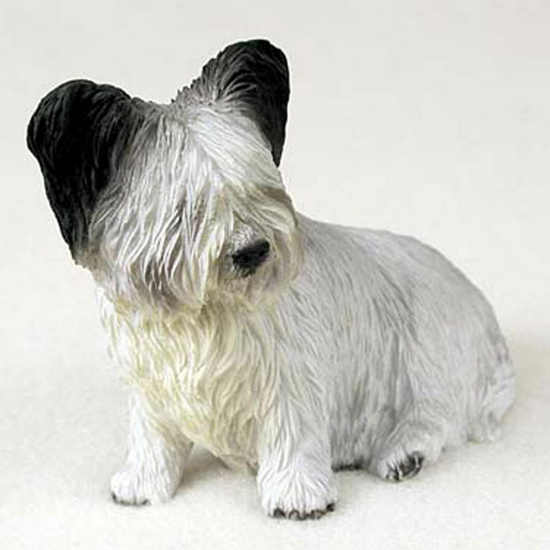 Skye Terrier Figurine Hand Painted Collectible Statue