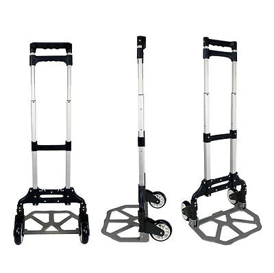 Cart Folding Push Utility Truck Hand Collapsible Trolley Luggage 165lb Max Load